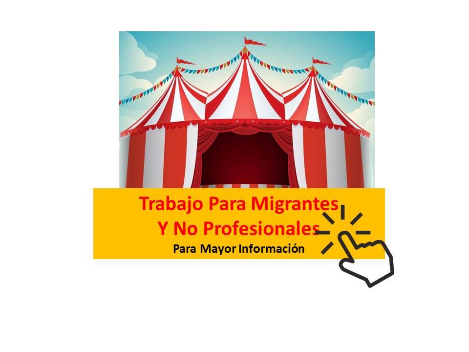trabajo para migrantes o no profesionales